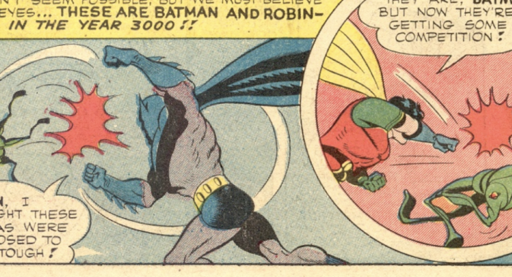 A panel from Batman #26, October 1944