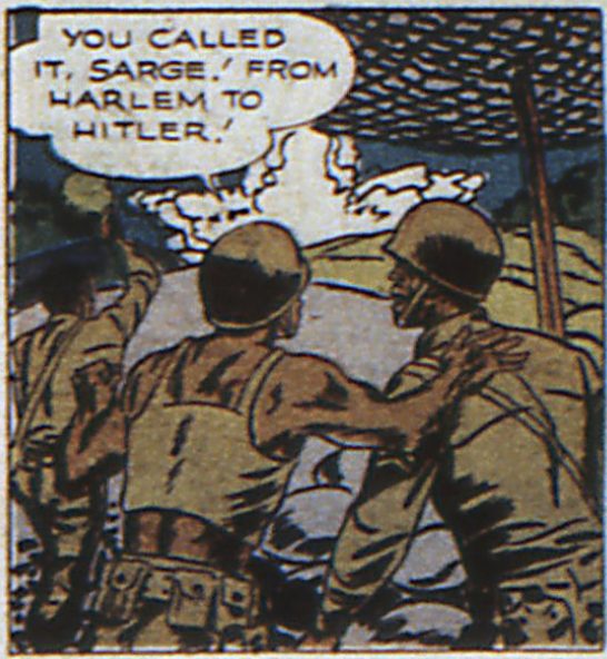 A panel from Johnny Everyman in World's Finest Comics #17, January 1945