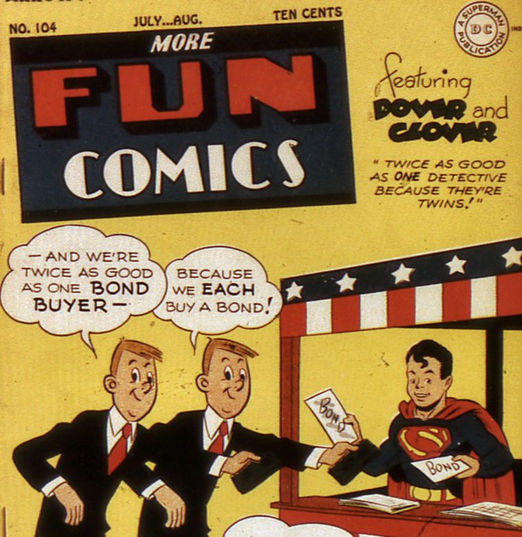 The cover of More Fun Comics #104, May 1945