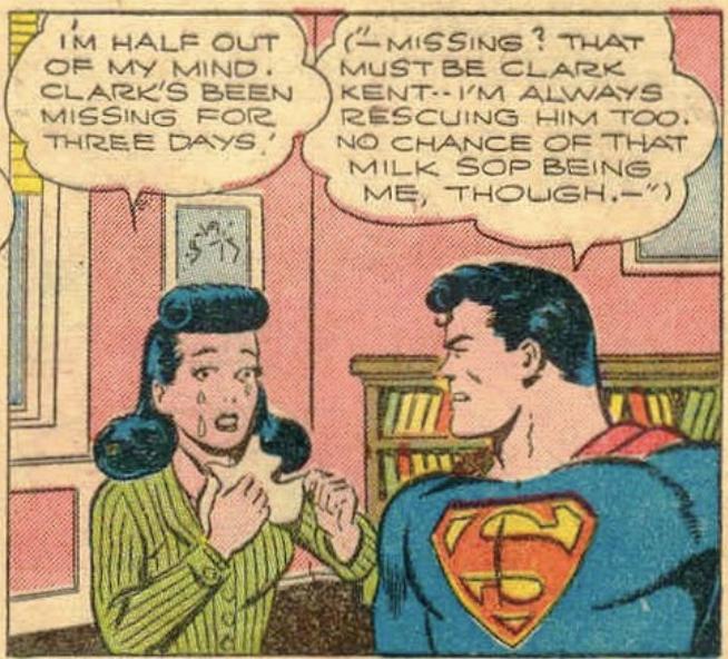 Superman loses his memory again in Superman #32, November 1944