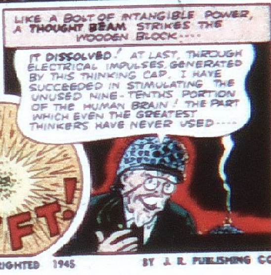 A panel of from Flash Comics #65, April 1945
