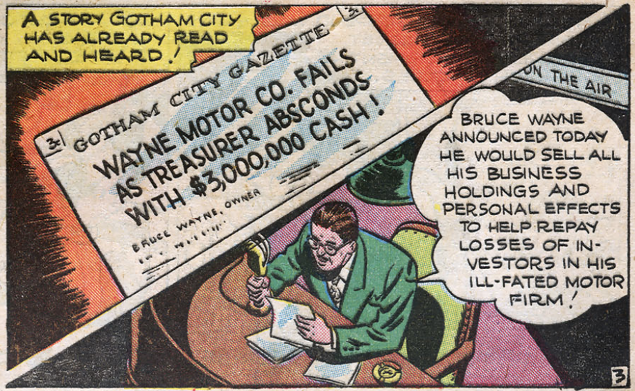 A panel from Detective Comics #105, September 1945