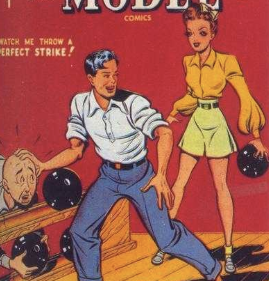 A portion of the cover for Millie the Model #1, August 1945