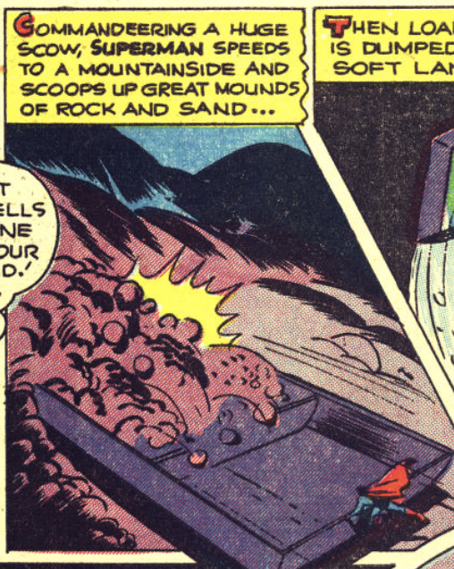 A panel from Superman #36, June 1945