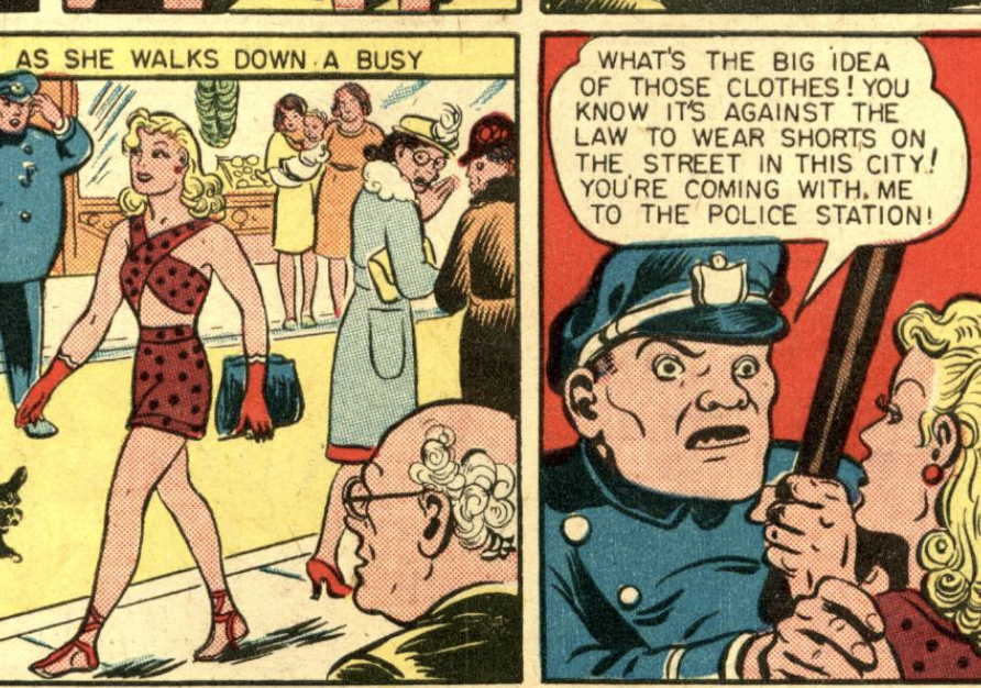 A panel from Comic Cavalcade #12, September 1945