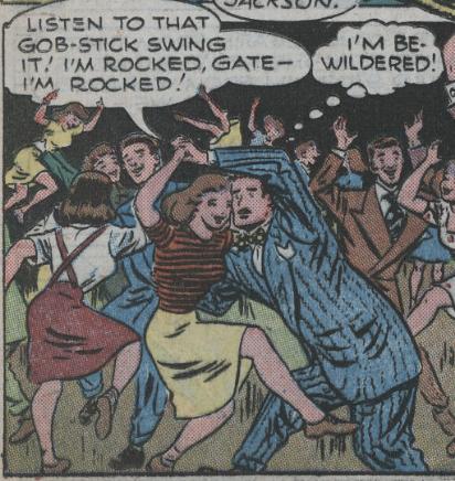 A panel from Batman #33, December 1945