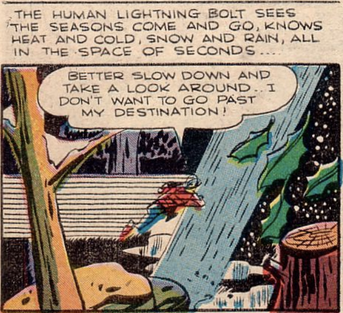 A panel from All-Flash #23, April 1946