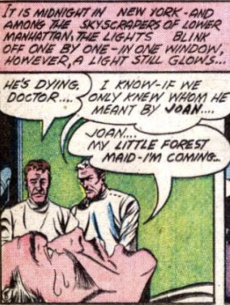 """A panel from """"Just a Story"""" in Comic Cavalcade #15, April 1946"""