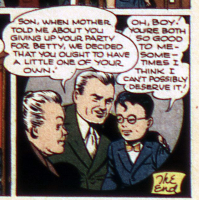 A panel from Adventure Comics #103, February 1946