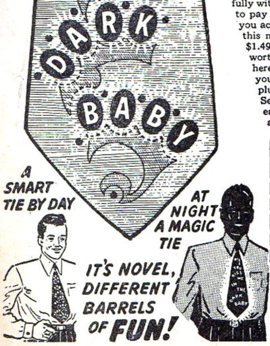 An ad for a novelty tie from Captain America #54, January 1946