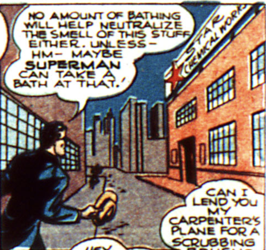 A panel from Action Comics #100, July 1946
