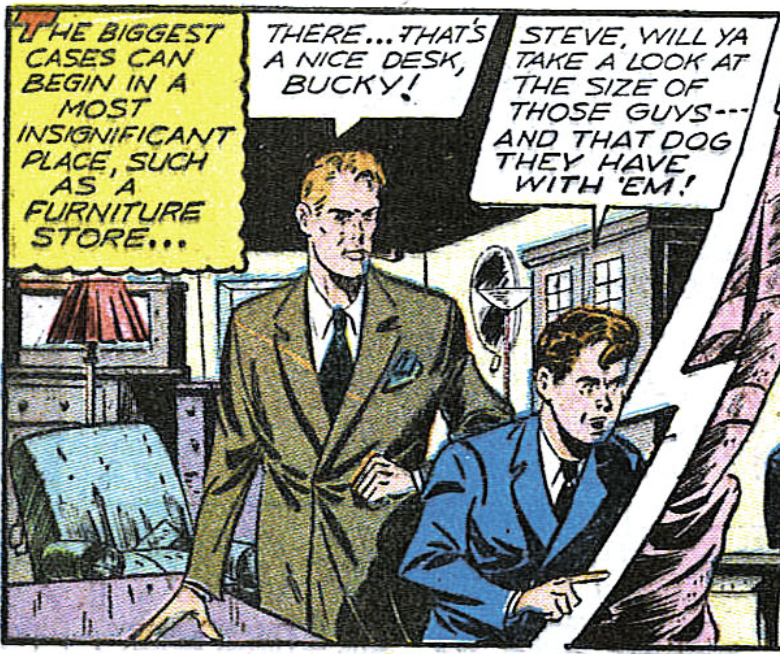 A panel from Captain America #54, January 1946