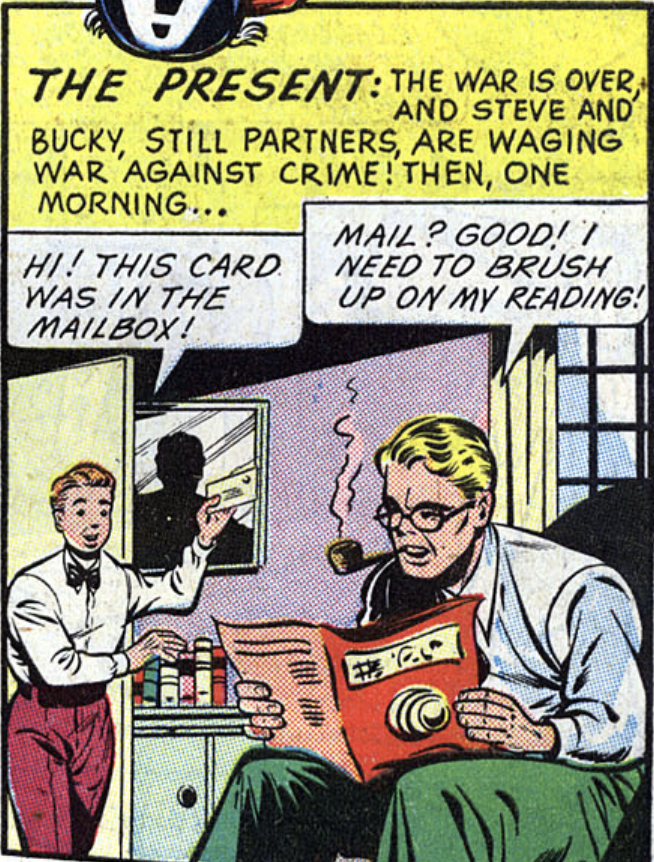 A panel from Captain America #59, August 1946