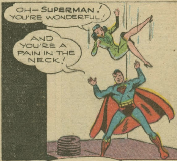 A panel from Superman #41, May 1946