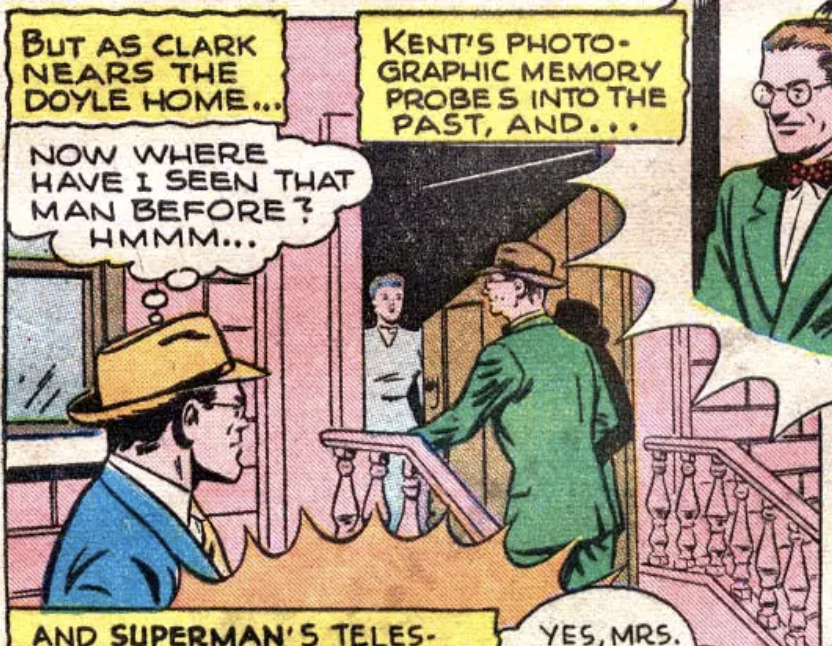 A panel from Action Comics #101, August 1946