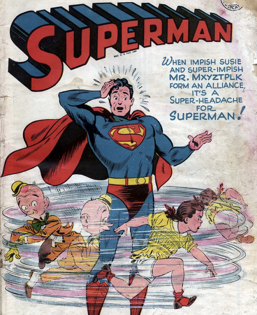 A portion of the cover of Superman #40, March 1946