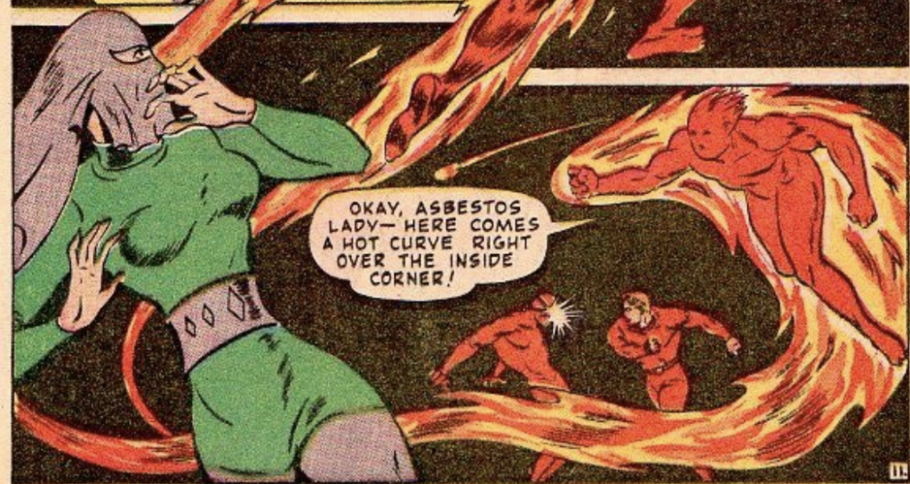 A panel from Human Torch #27, May 1947