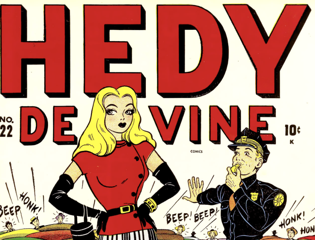 A portion of the cover of Hedy De Vine #22, May 1947