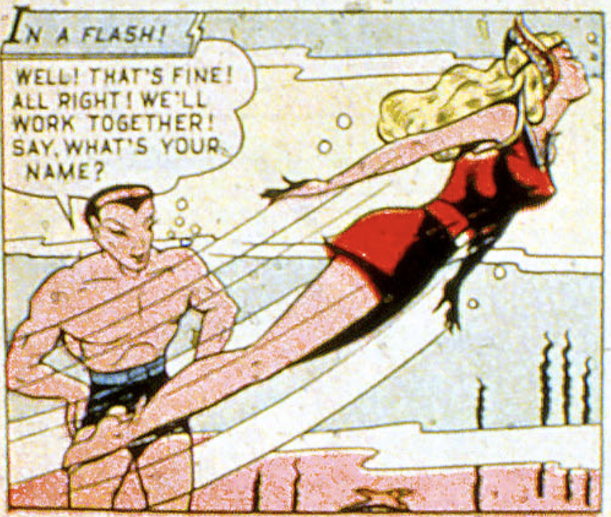 A panel from Marvel Mystery Comics #82, April 1947