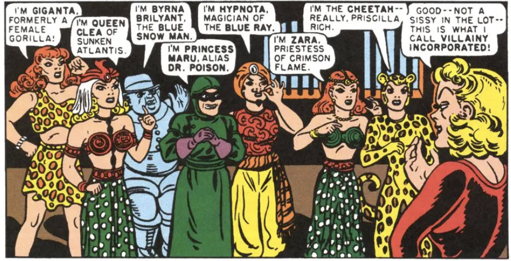 A panel from Wonder Woman #28, January 1948