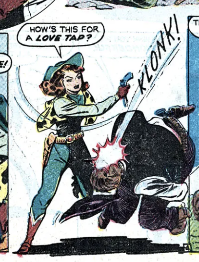 A panel from Arizona Annie in Wild West #1, February 1948