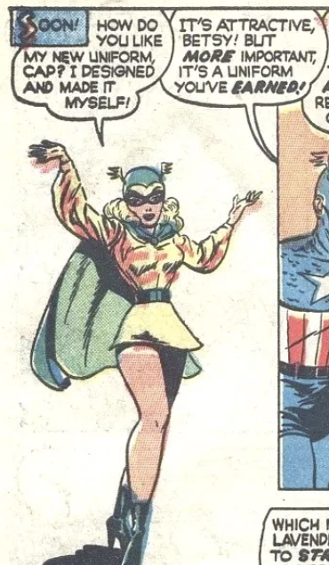 The debut of Golden Girl from Captain America #66, March 1948
