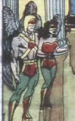 A Hawkman panel in Flash #98, June 1946