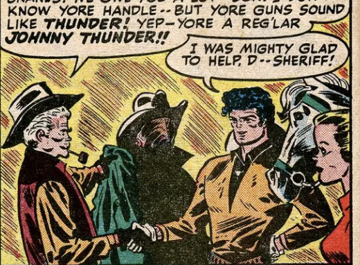A panel from All-American Comics #100, June 1948