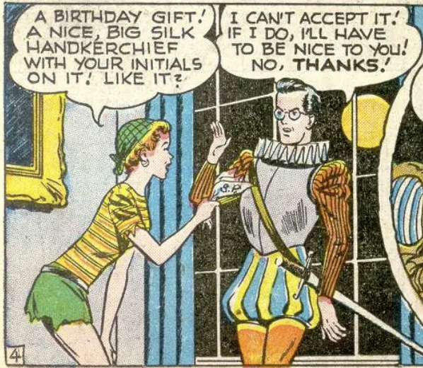 A panel from Star-Spangled Comics #81, April 1948