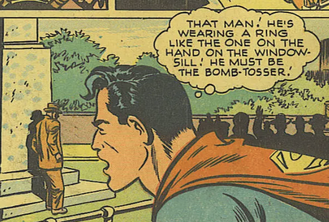 A panel from World's Finest Comics #34, March 1948