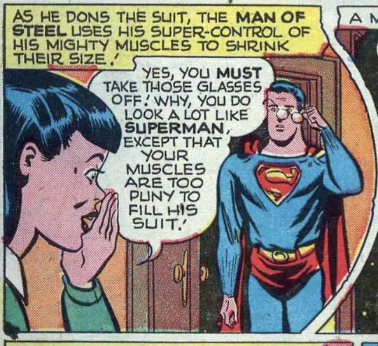 A panel from Action Comics #119, February 1948