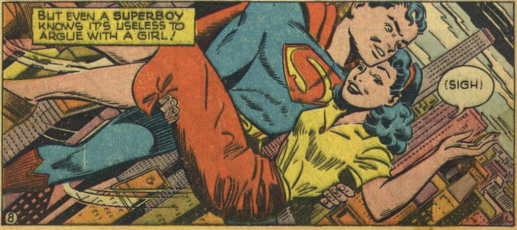A panel from Adventure Comics #128, March 1948