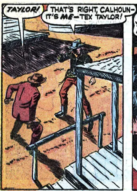 A panel from Tex Taylor in Wild West #1, February 1948