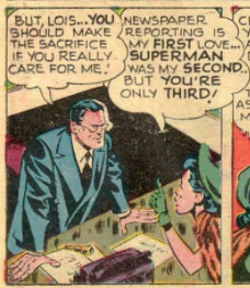 Another panel exploring deep relationship troubles in Superman #58, March 1949