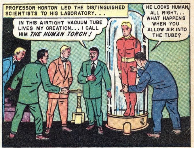 A panel from Marvel Mystery Comics #92, February 1949