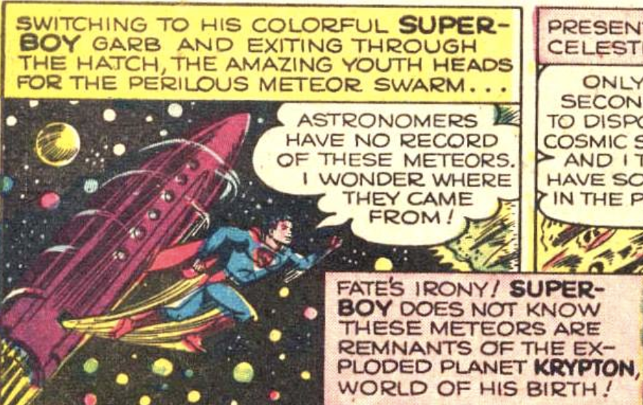 A panel from Adventure Comics #140, March 1949