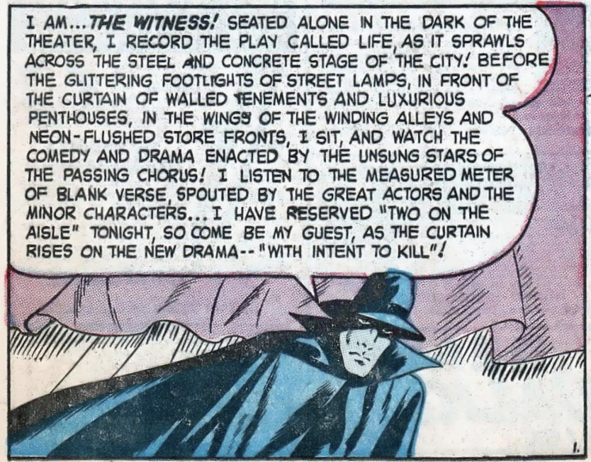 A panel from Amazing Mysteries #32, February 1949