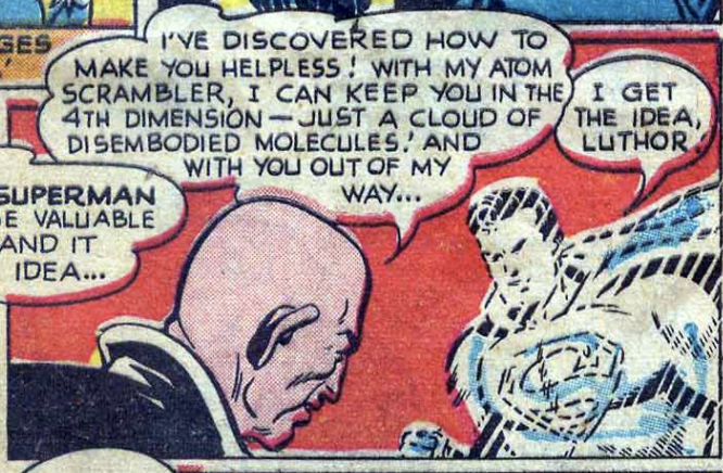 A panel from Action Comics #131, February 1949