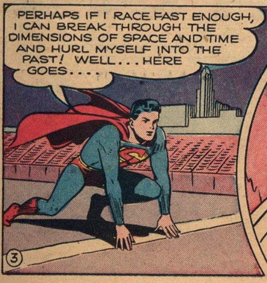 A panel from Superboy #2, March 1949