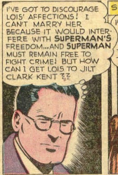 A panel from Superman #58, Mar 1949