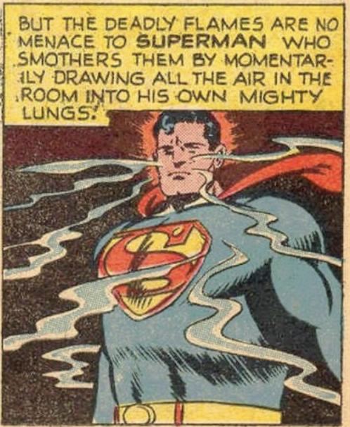 Superman super-sucking in Superman #60, July 1949