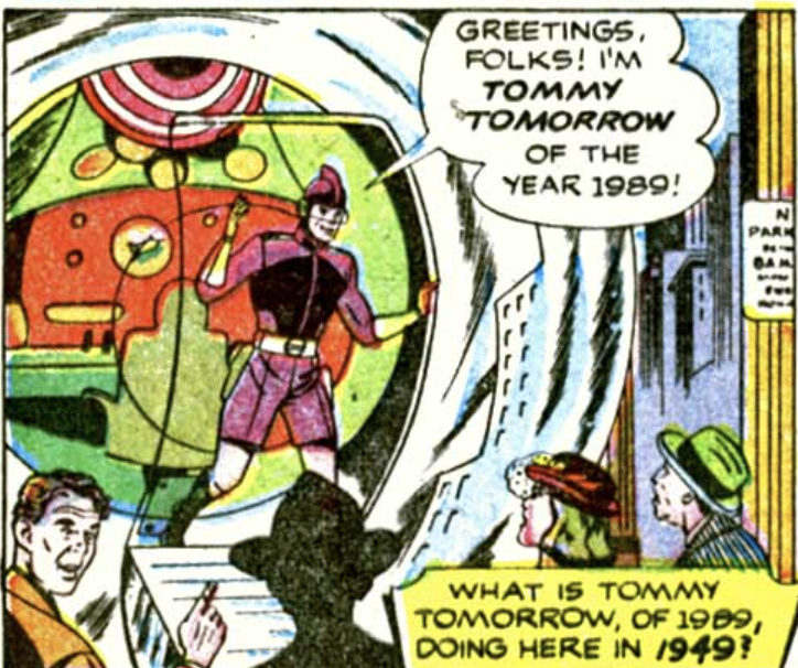 A panel from Action Comics #137, August 1949