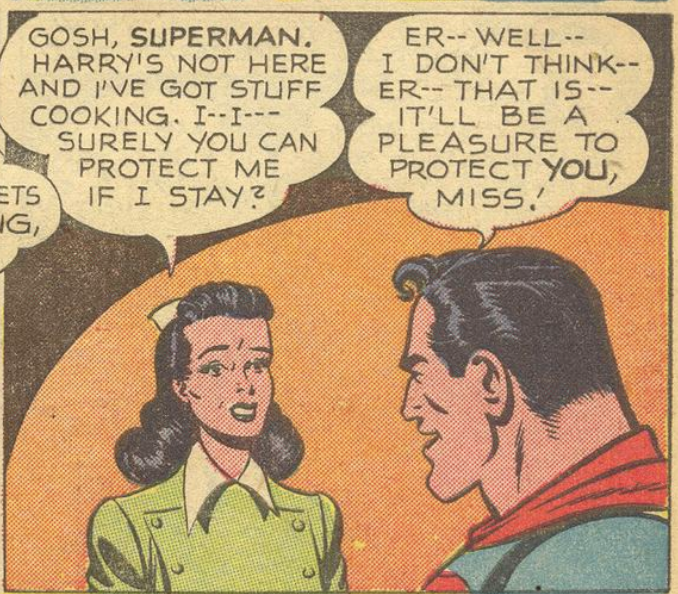 A panel from World's Finest #47, June 1950