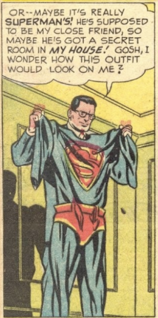 A panel from Superman #71, May 1951