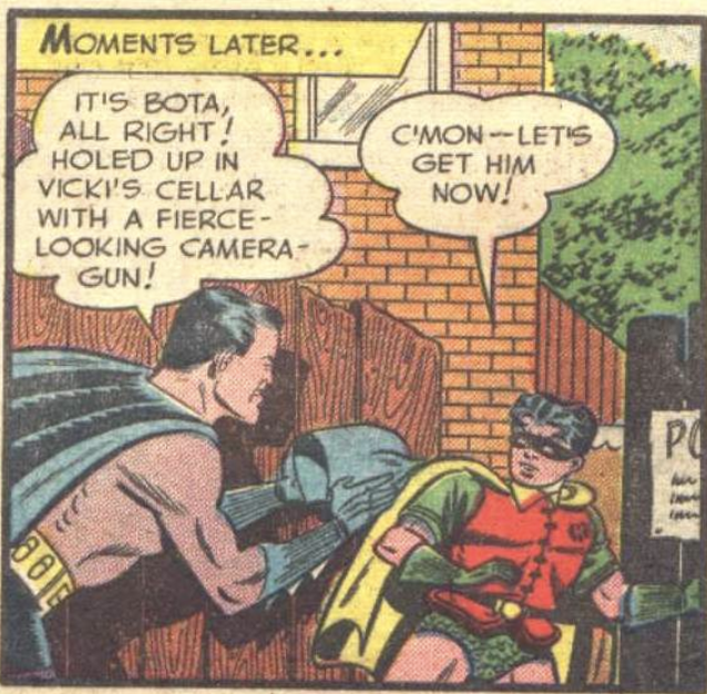 A panel from Batman #64, February 1951