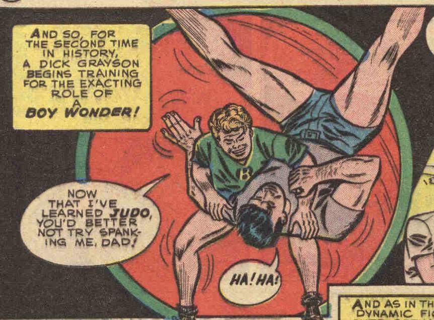 A panel from Batman #66, June 1951