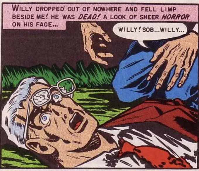 What did Willy see?  Another panel from Weird Science #7, February 1951
