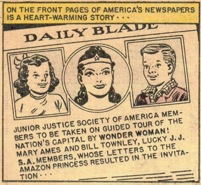 A panel from Wonder Woman #47, March 1951