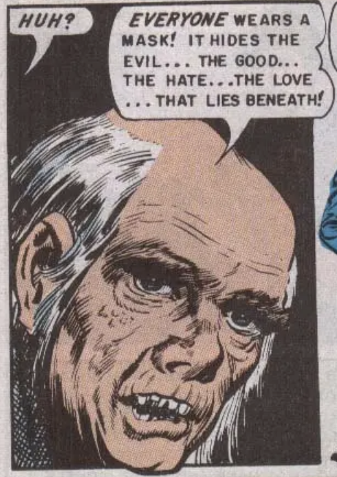 """A panel from """"Mask of Horror"""" from Vault of Horror #18, January 1951"""