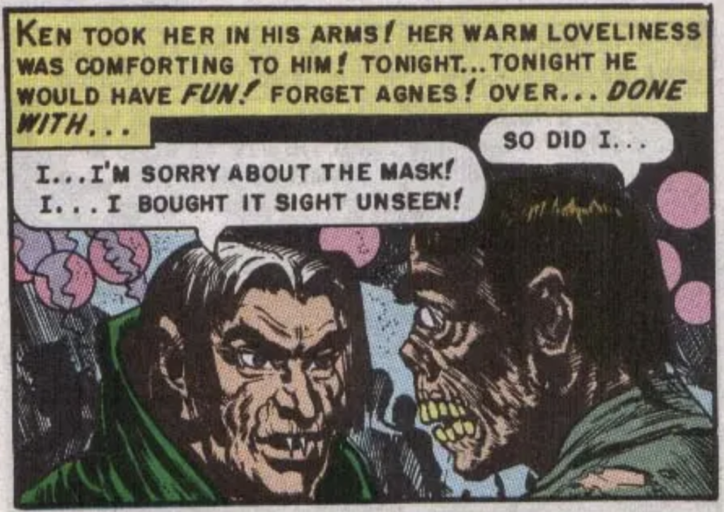 """Anotherr panel from """"Mask of Horror"""", January 1951"""